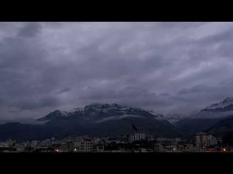 Tehran sunset time lapse November
