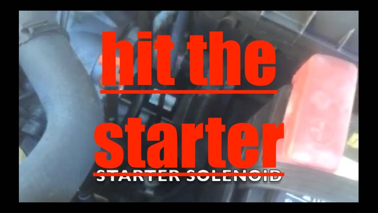 Starter won't crank over engine WHAT TO DO?? √