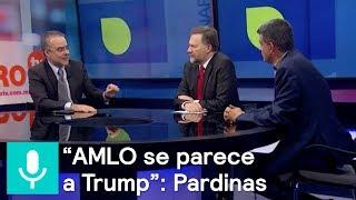 """""""AMLO es como Trump"""": Pardinas. """"En el PRI no hay crítica"""": MORENA - Es la Hora de Opinar"""