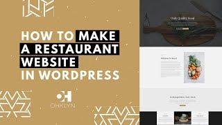 Restaurant Website Design Tutorial Building a Restaurant Website with WordPress EASY