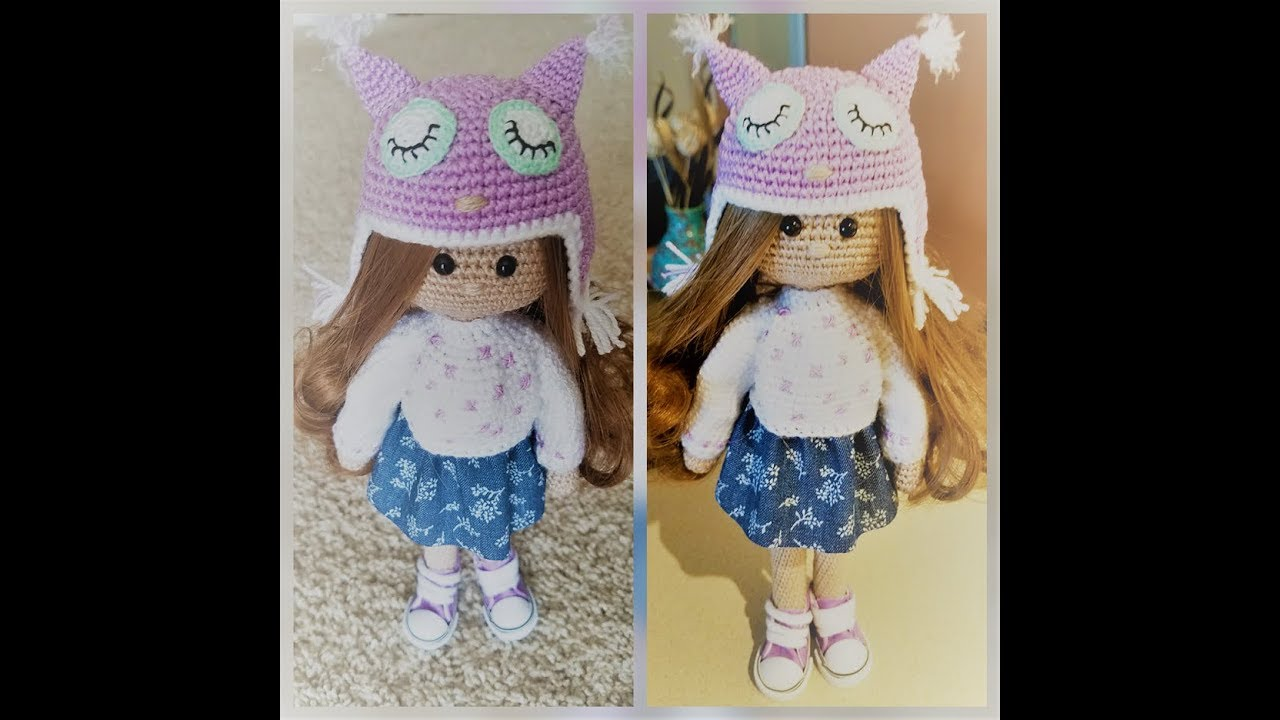Kукла вязаная крючком часть 1 Crochet Doll Youtube