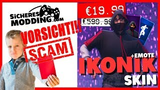 "⚠️IKONIK SKIN SCAM! Service ""SAFE MODDING"" is Scam!😡 (Fortnite Scam Enlightenment)"