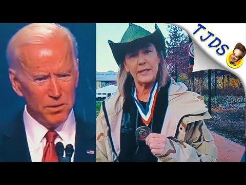 Veteran's Wife Heckles Bush & Biden At Medal Ceremony