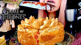 ASMR Eating Game of Thrones Pigeon Pie | Eating Sounds | Part 1