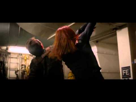 Captain America: The Winter Soldier CLIP - Boiler Room Fight (2014) - Scarlett Johansson Movie HD