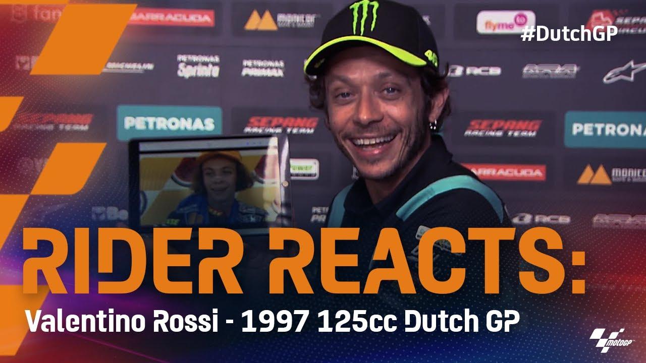 Rider Reacts: Valentino Rossi winning at the 1997 #DutchGP