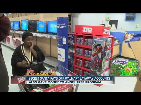 Secret Santa Pays Off Walmart Layaway Accounts