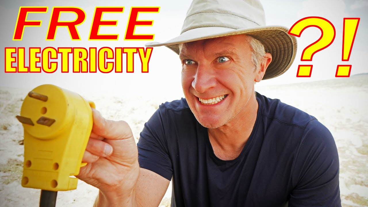 The Cheapest RV Campground in America with 30A/50A Electric -- 100% FREE! :O
