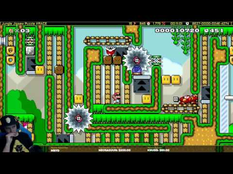 Mario Maker one Screen Puzzle level-Jungle Jigsaw Puzzle
