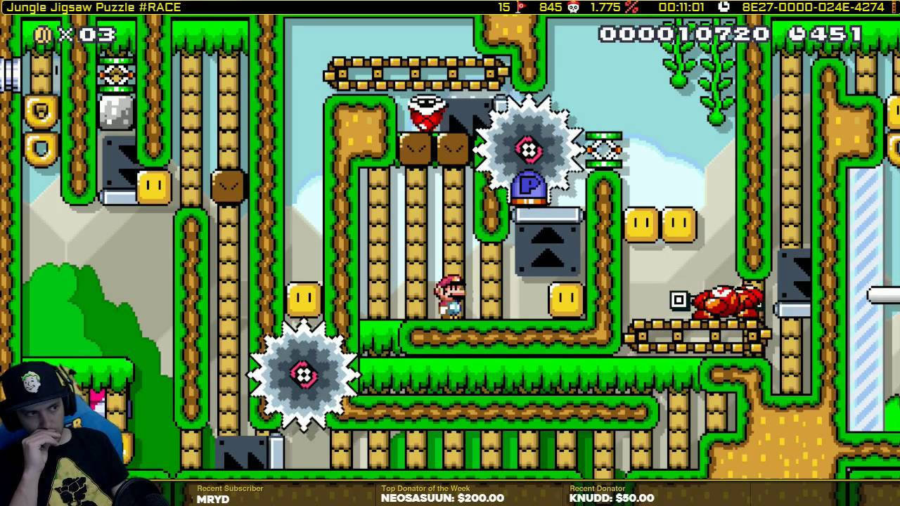 Jigsaw Puzzle Maker >> Mario Maker one Screen Puzzle level-Jungle Jigsaw Puzzle ...