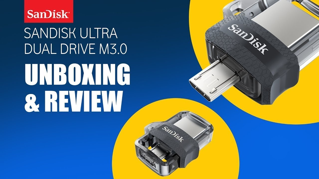 Sandisk Ultra Dual Drive M3.0 Review - Sandisk USB - YouTube