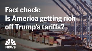 Fact Check: Is America Actually Getting Rich Off President Donald Trump's Tariffs? | NBC News