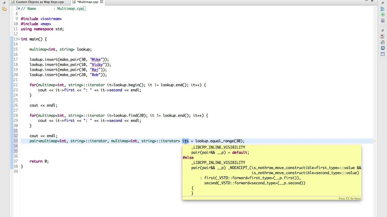 Learn Advanced C++ Programming multimaps