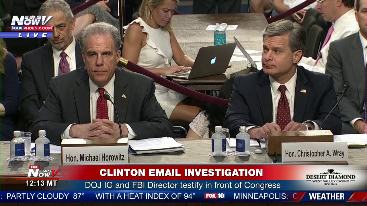 CLINTON EMAIL INVESTIGATION: Full Senate Hearing On DOJ IG Report