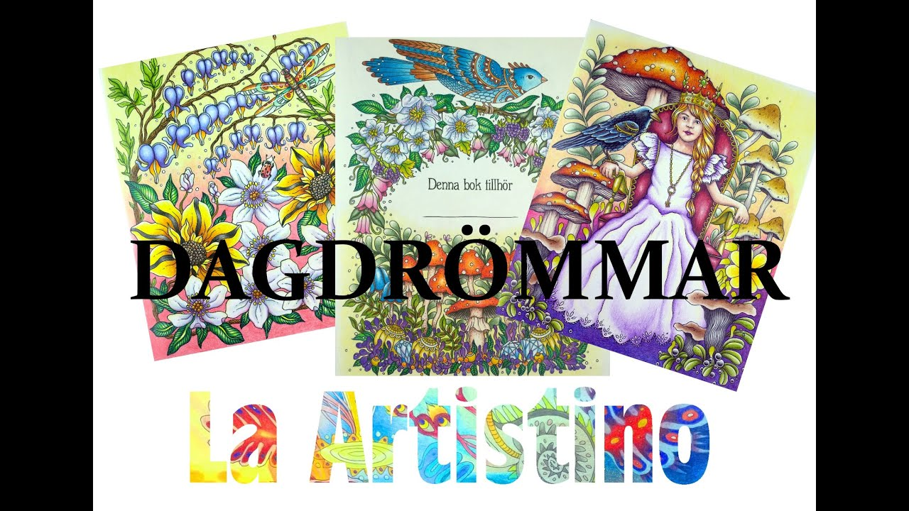 Colouring Book Review: Dagdrömmar with tips and coloured pages ...