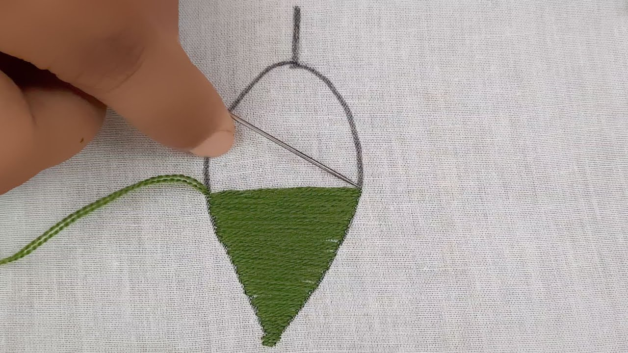 Latest leaf stitch design for beginner/Hand embroidery leaf design @Nakshi Katha