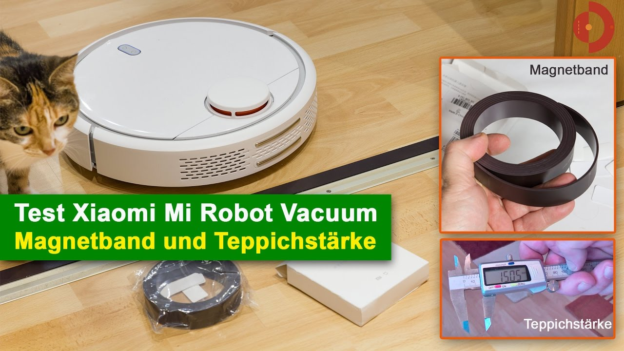 Xiaomi Mi Robot Vacuum magnetic tape and carpet thickness (German)