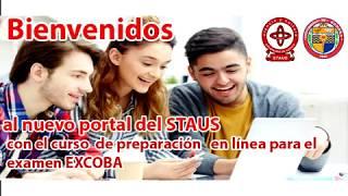 Presenta STAUS el nuevo portal del Curso de preparación para el examen EXCOBA
