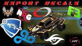 ESPORT DECALS ROCKET LEAGUE! NOW ON ALPHA CONSOLE -mod release-