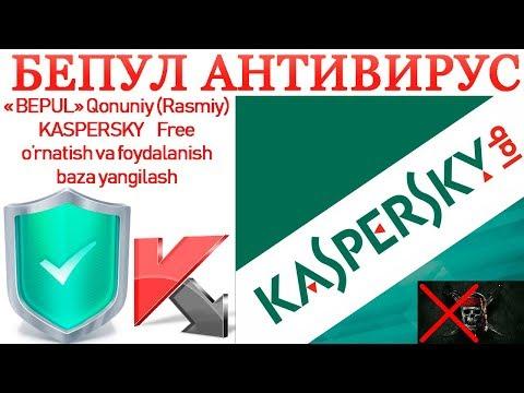 Antivirus o'rnatish Bepul Kasperskydan foydalanish Antivirusni yangilash