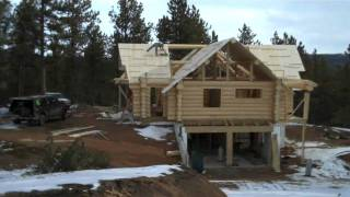 "How to build a Log Home by Mitchell Dillman ""the Online carpenter"""