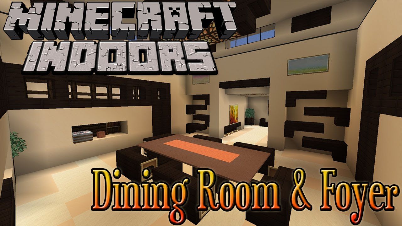Minecraft indoors dining room foyer youtube for Dining room designs minecraft