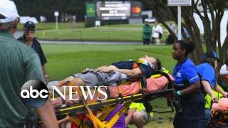 Golf fans injured after lightning strikes at PGA Tour in Atlanta