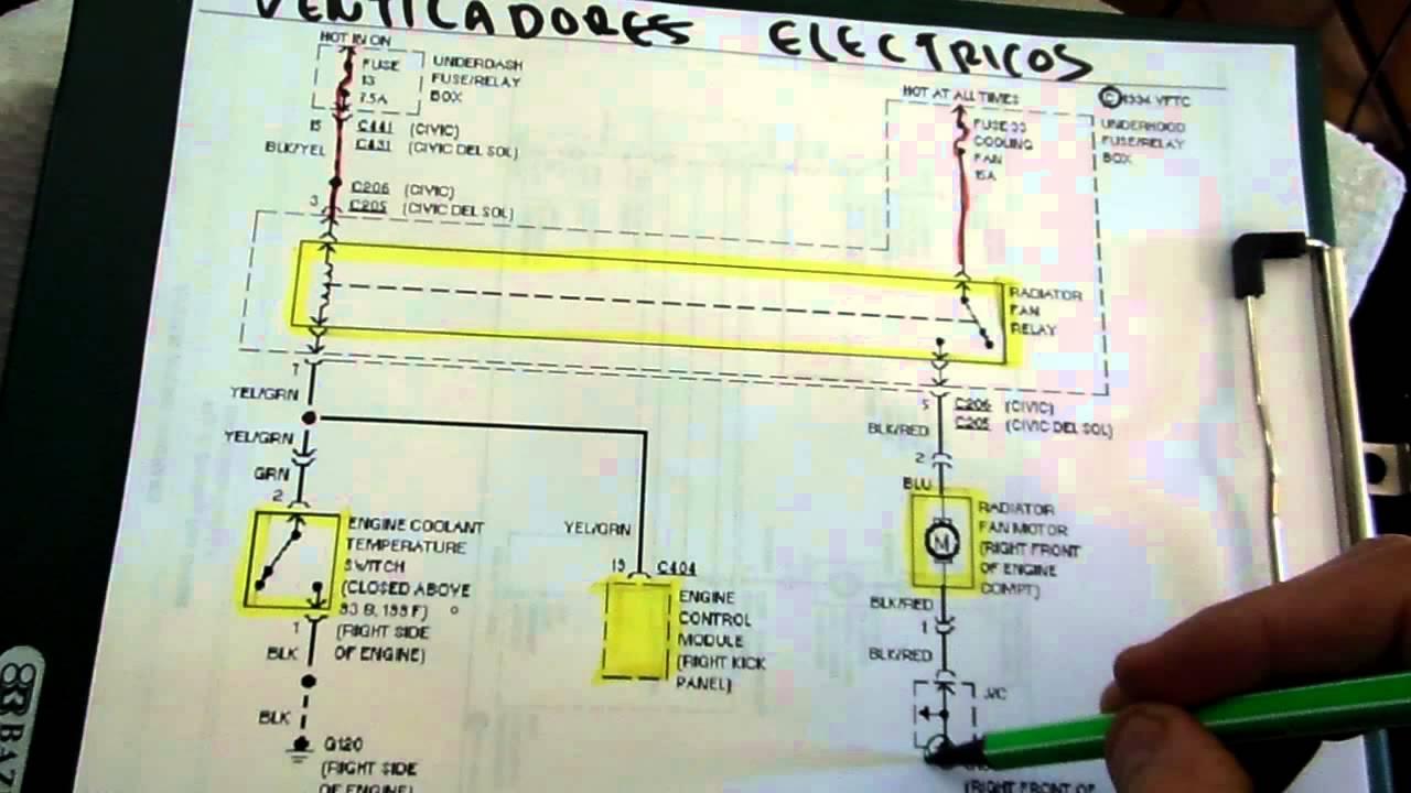 Lectura De Diagramas Electricos Automotrices Ventiladores Electricos Youtube