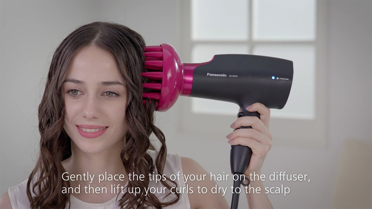 How To Use The Diffuser Panasonic Nanoe Hair Dryer Eh Na65 Youtube