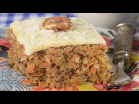 Carrot Sheet Cake Recipe Demonstration - Joyofbaking.com