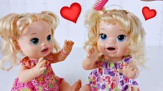 Baby Alive Gêmeas 👯 Sara e Comilona *Comparando Nova Baby Alive Comilona*