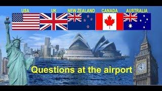 Questions at the airport - Вопросы в аэропорту // английский язык