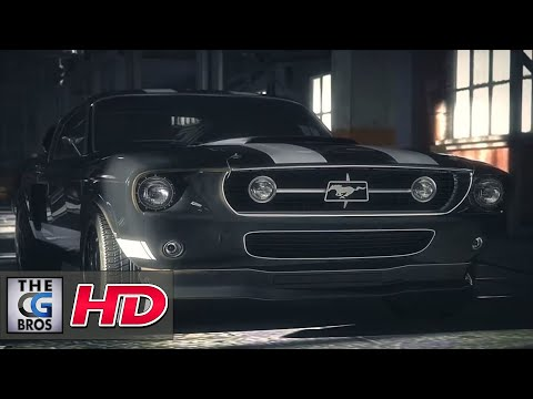 "CGI 3D Animated Short: ""Ford Mustang 1967 vs Audi R8"" - by Zeynal Adigozalov"