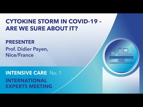 Cytokine storm in COVID-19 – are we sure about it? | Didier Payen | Webinar 1
