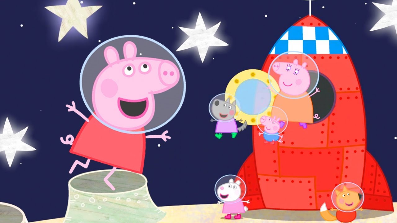 Peppa Pig Official Channel | Peppa Pig's Golden Boots in the Space