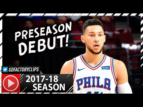 Ben Simmons Full Debut Highlights vs Grizzlies (2017.10.04) - 6 Pts, 7 Reb, 9 Ast!