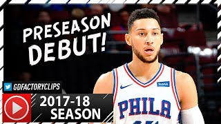 ben simmons full debut highlights vs grizzlies 2017 10 04 6 pts 7 reb 9 ast