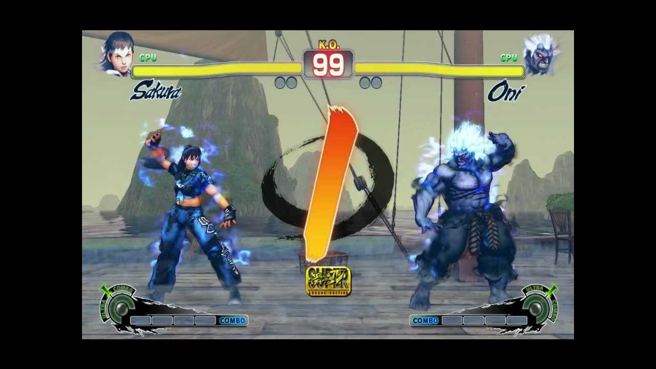 Oni Sakura New Street Fighter 4 Mod