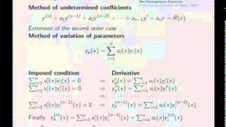 Mod-06 Lec-28 Methods of Linear ODE's
