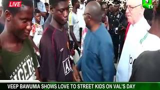 Valentine's Day: Dr. Bawumia shows love to street kids
