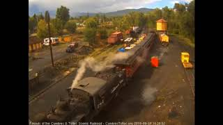 9/7/2018 Seven car train 215 arrives in Chama, NM