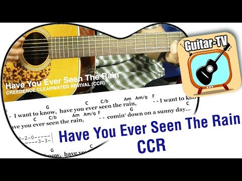 Have You Ever Seen The Rain - CCR, Cover • Tutorial • Easy Lesson! • Lyrics • Chords • Play Along