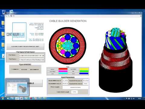 Continuum Blue Ltd Cable Builder Tool Video 2013