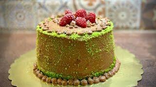 Торта с нежни вертикални блатове и два вида пълнеж Торт с вертикальными коржами и двумя начинками