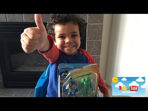 Kids Toyreview | Imaginext DC Super Friends Batman & Swamp Thing! Figures!