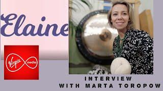 Marta Toropow interview on Elaine Show _Virgin media Tv /Sound healing