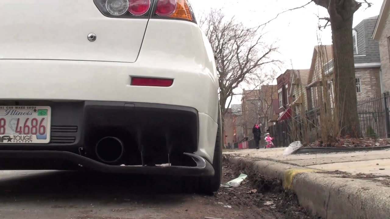 How A Diffuser Works >> Touge Factory Evo X Voltex Style Rear Diffuser - YouTube