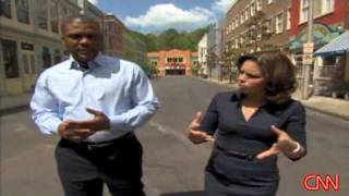 Tyler Perry talks to CNN's Soledad O'Brien on the backlot of his studio