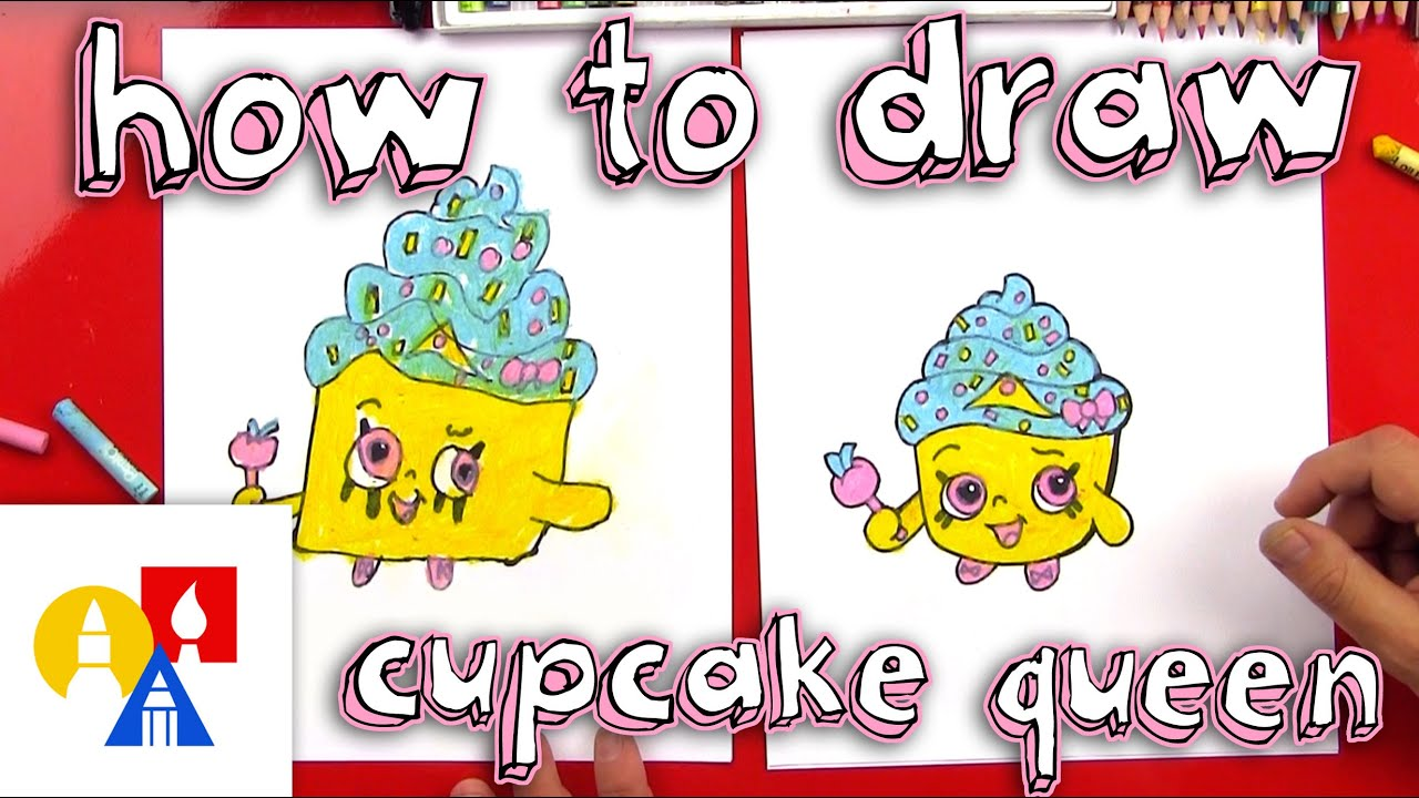 Uncategorized Art Pictures For Kids To Draw how to draw shopkins cupcake queen youtube