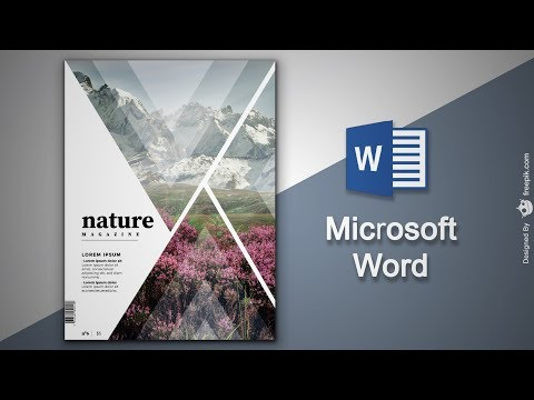 Create Cover Page  In Microsoft Word | Natural Magazine Cover Designing In MS Word